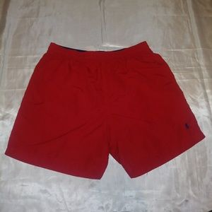 Polo by Ralph Lauren Red Swim Trunks